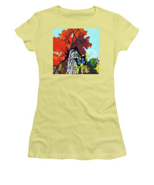 Last Butterfly Before Winter Women's T-Shirt (Junior Cut) by John Lautermilch