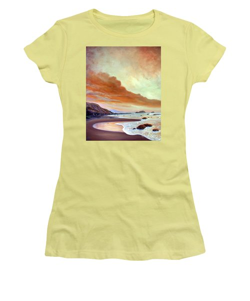 Late Afternoon On San Simeon Beach Women's T-Shirt (Athletic Fit)