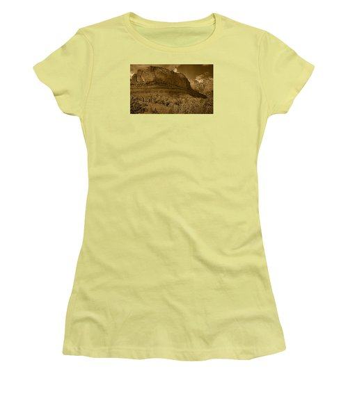 Late Light At Brin's Mesa Tnt Pano Women's T-Shirt (Athletic Fit)