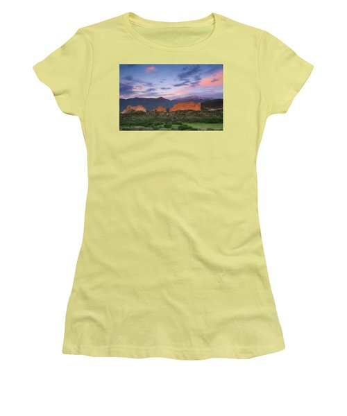 Women's T-Shirt (Junior Cut) featuring the photograph Late Spring Sunrise by Tim Reaves