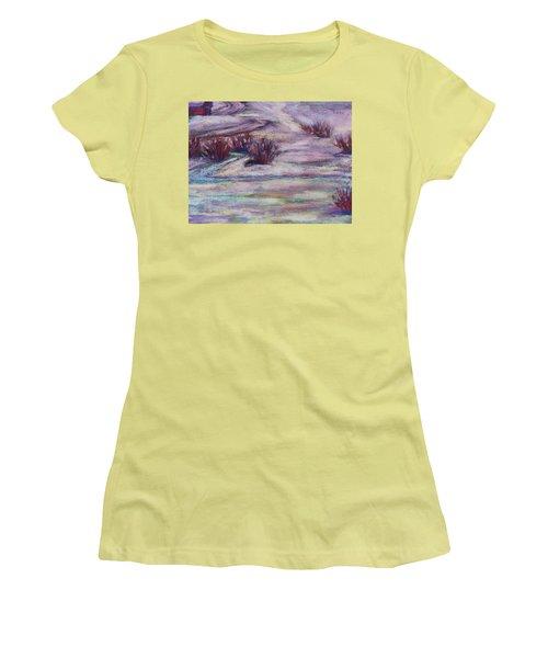 Late Winter Light Women's T-Shirt (Junior Cut) by Becky Chappell