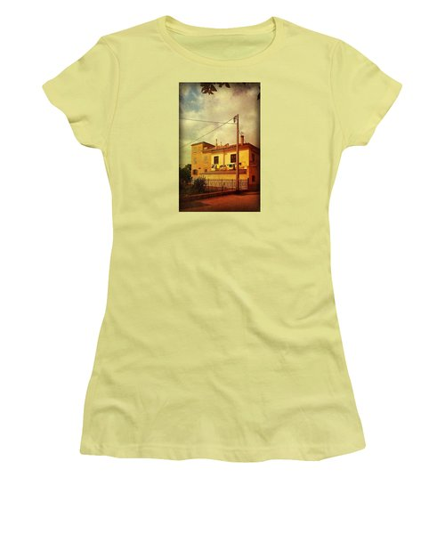 Women's T-Shirt (Junior Cut) featuring the photograph Laundry Day by Anne Kotan