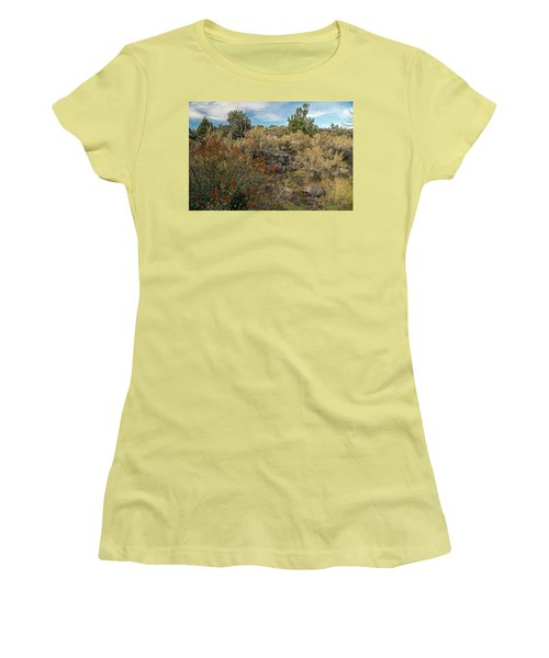 Lava Formations Women's T-Shirt (Junior Cut) by Cindy Murphy - NightVisions