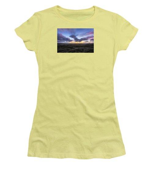 Women's T-Shirt (Junior Cut) featuring the photograph Lava Twilight by Ryan Manuel