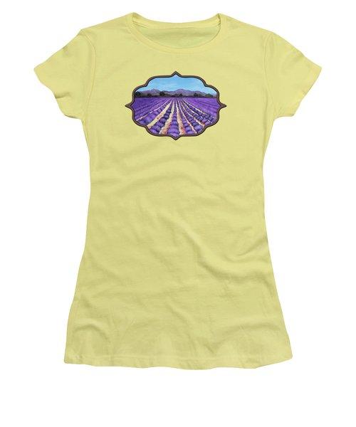 Lavender Field In Provence Women's T-Shirt (Junior Cut) by Anastasiya Malakhova