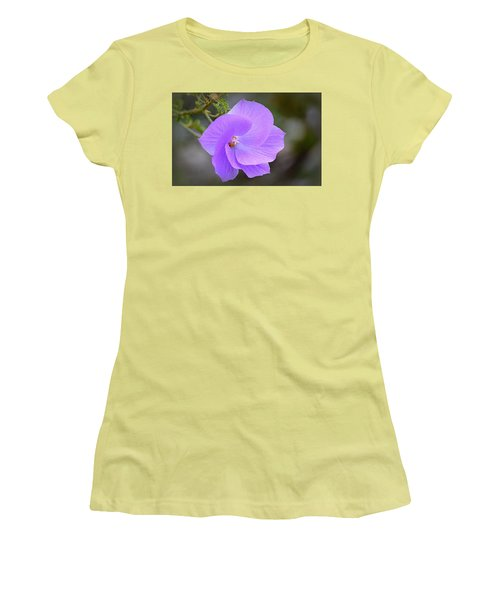 Women's T-Shirt (Athletic Fit) featuring the photograph Lavender Flower by AJ Schibig