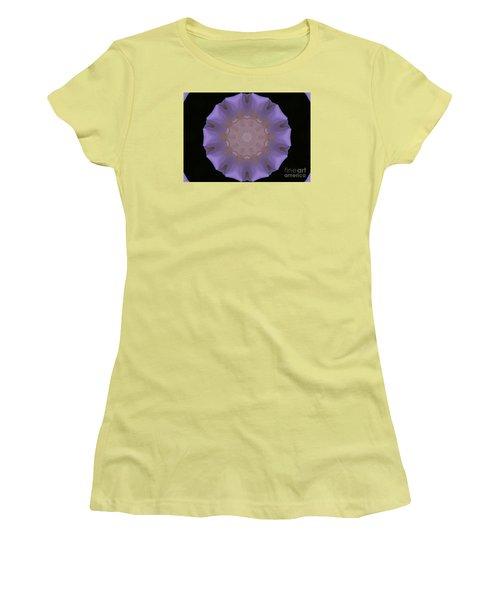 Lavender Pinwheel Women's T-Shirt (Junior Cut) by Marilyn Carlyle Greiner