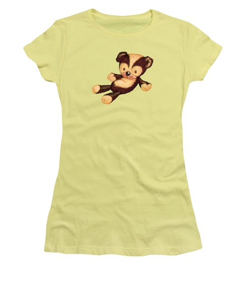 Lazy Bear Women's T-Shirt (Junior Cut) by Andy Catling
