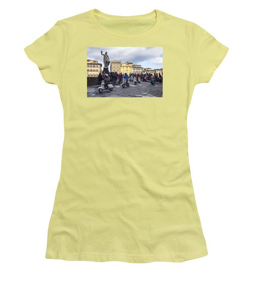 Vespe Di Firenze Women's T-Shirt (Junior Cut) by Sonny Marcyan