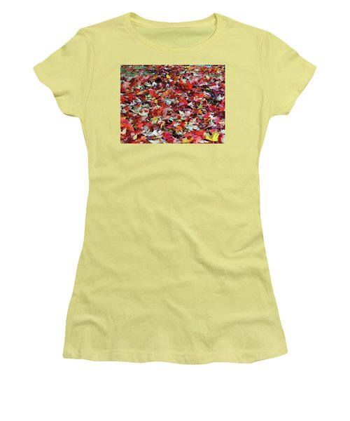 Leaf Pile Women's T-Shirt (Athletic Fit)