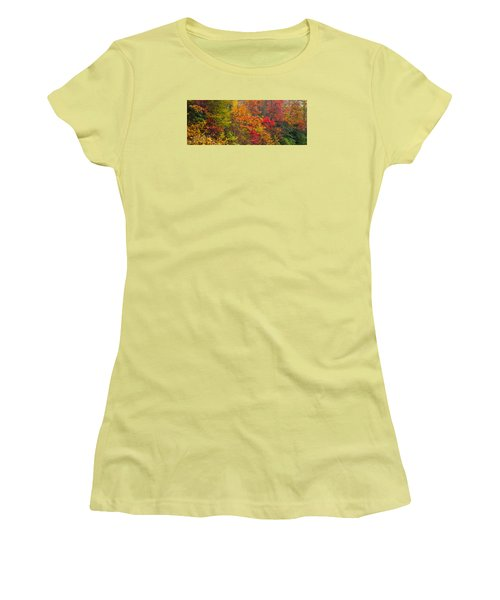 Leaf Tapestry Women's T-Shirt (Junior Cut)