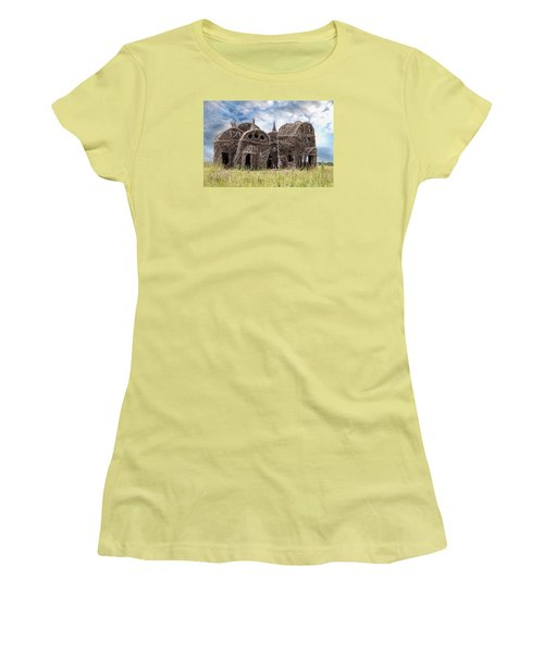 Lean On Me - Stick House Series 1/3 Women's T-Shirt (Junior Cut) by Patti Deters