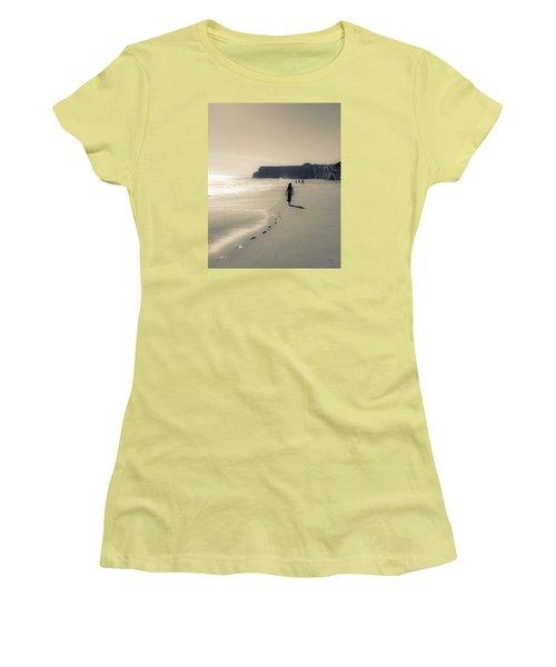 Leave Nothing But Footprints Women's T-Shirt (Junior Cut) by Alex Lapidus