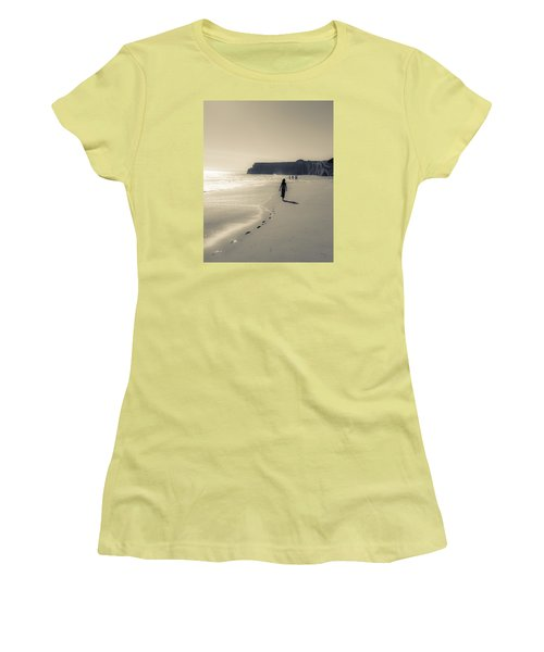 Leave Nothing But Footprints Women's T-Shirt (Athletic Fit)