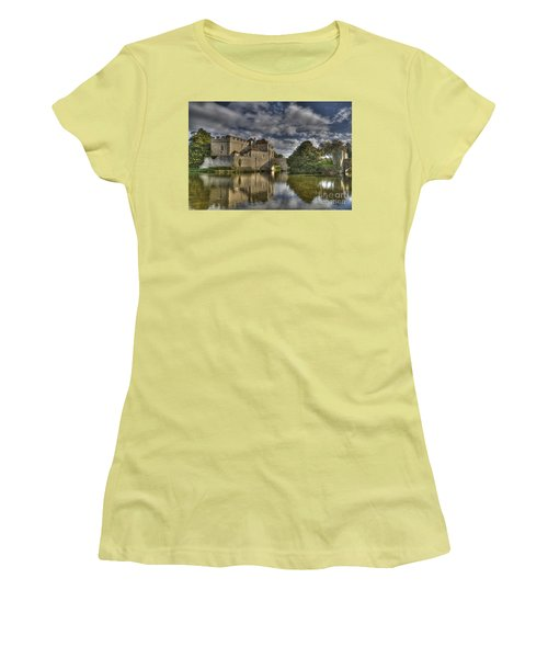 Leeds Castle Reflections Women's T-Shirt (Athletic Fit)