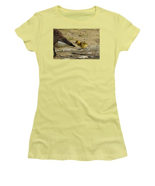 Women's T-Shirt (Junior Cut) featuring the photograph Left     Right    Left by Betty-Anne McDonald