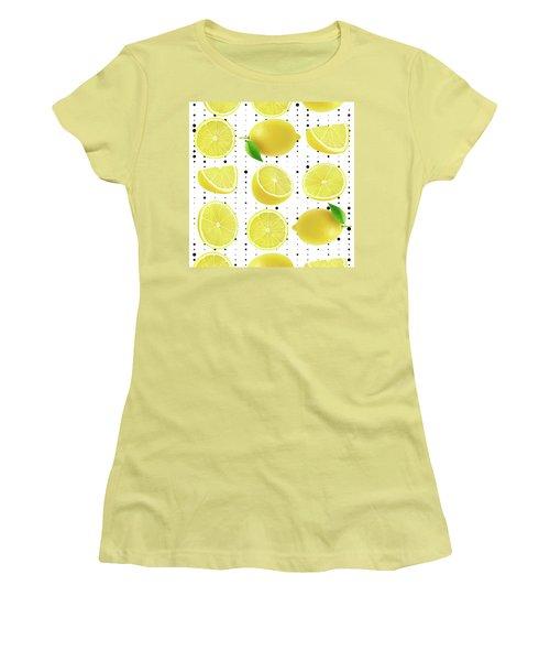 Lemon  Women's T-Shirt (Junior Cut) by Mark Ashkenazi