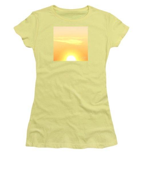 Lemon Meringue Sky Women's T-Shirt (Junior Cut) by Patricia E Sundik