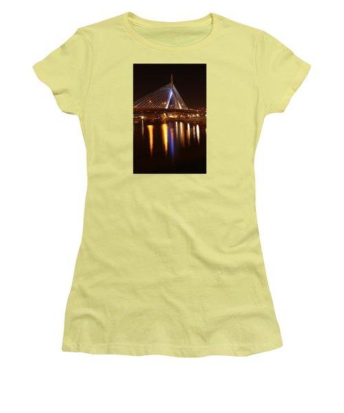 Leonard P. Zakim Bunker Hill Bridge Reflection 2 Women's T-Shirt (Athletic Fit)