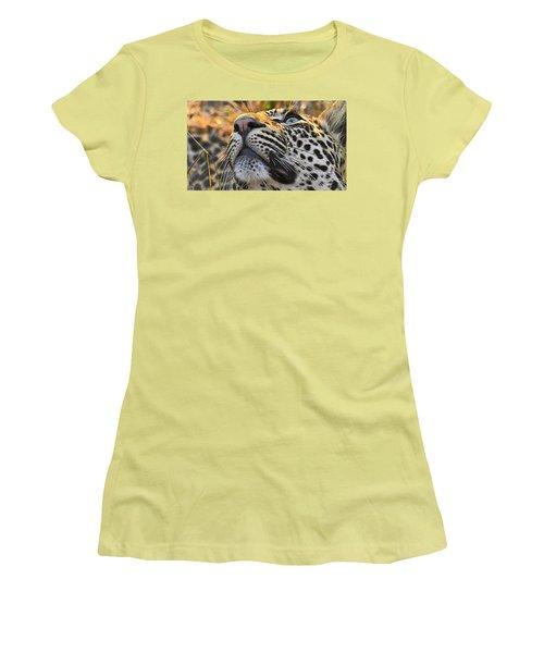 Leopard Aloft Women's T-Shirt (Athletic Fit)