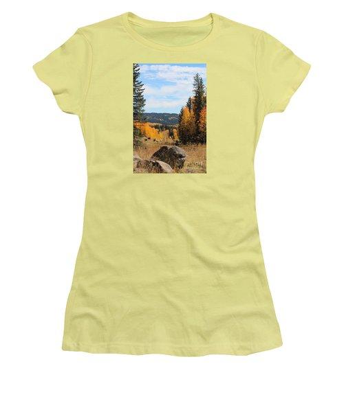 Leroux Creek Autumn In Colorado Women's T-Shirt (Athletic Fit)