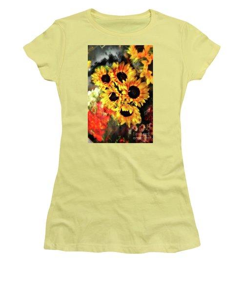 Les Tournesols Women's T-Shirt (Junior Cut) by Jack Torcello
