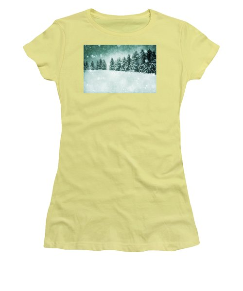 Let It Snow  Women's T-Shirt (Athletic Fit)