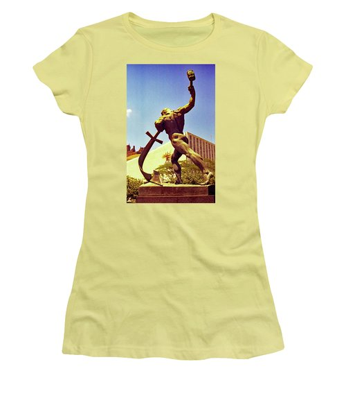 Let Us Beat Our Swords Into Plowshears Women's T-Shirt (Athletic Fit)