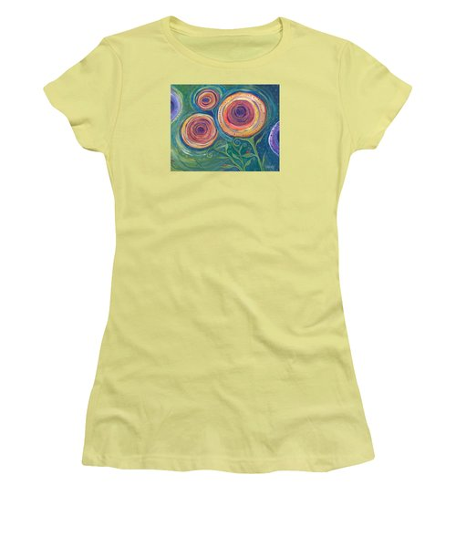 Women's T-Shirt (Junior Cut) featuring the painting Be The Light by Tanielle Childers