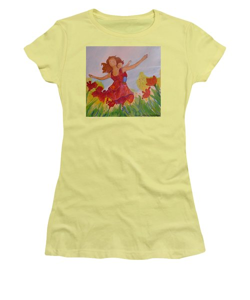 Let's Fly  Women's T-Shirt (Junior Cut) by Gioia Albano