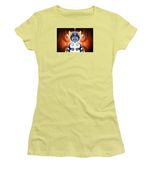 Li Shou - Ancient Chinese Cat Goddess Women's T-Shirt (Junior Cut) by Jim Pavelle