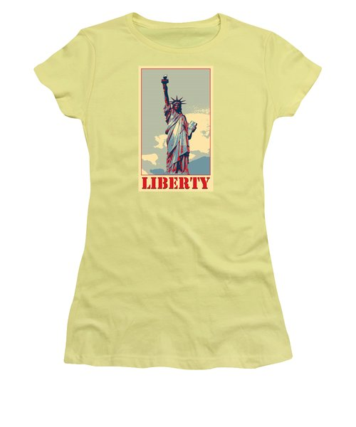 Women's T-Shirt (Junior Cut) featuring the photograph Liberty by Richard Reeve