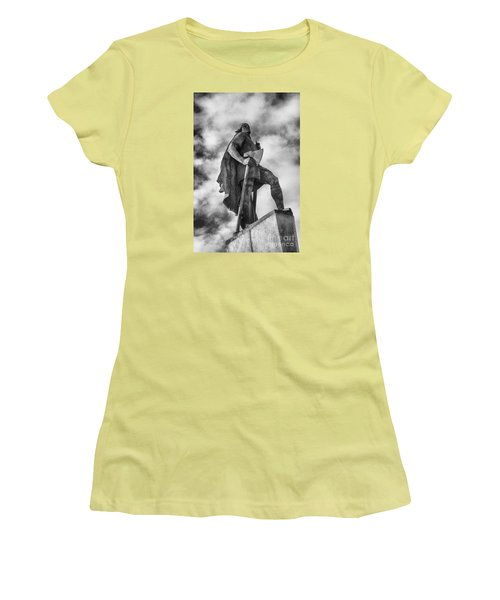 Women's T-Shirt (Junior Cut) featuring the photograph Lief Ericsson Reykjavik by Rick Bragan