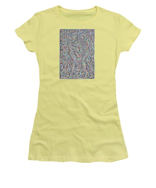 Women's T-Shirt (Junior Cut) featuring the mixed media Life Series 4 by Giovanni Caputo