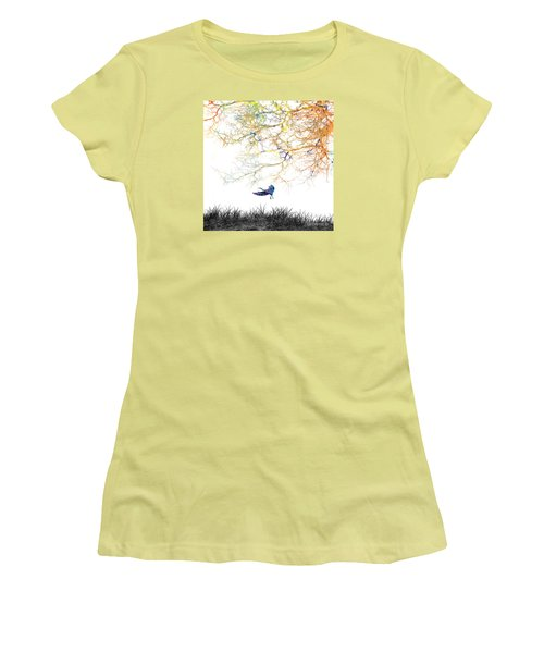 Women's T-Shirt (Junior Cut) featuring the painting Lift Off by Trilby Cole