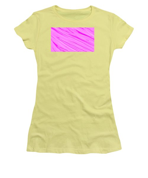 Light And Dark Pink Swirl Women's T-Shirt (Junior Cut) by Linda Velasquez