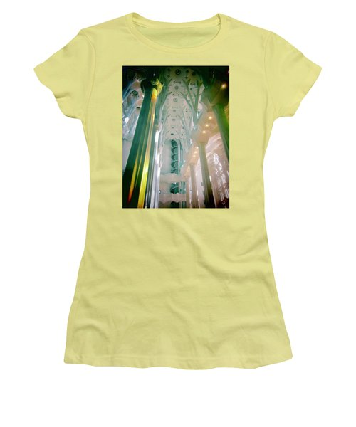Women's T-Shirt (Junior Cut) featuring the photograph Light Dancing On The Ceiling by Christin Brodie
