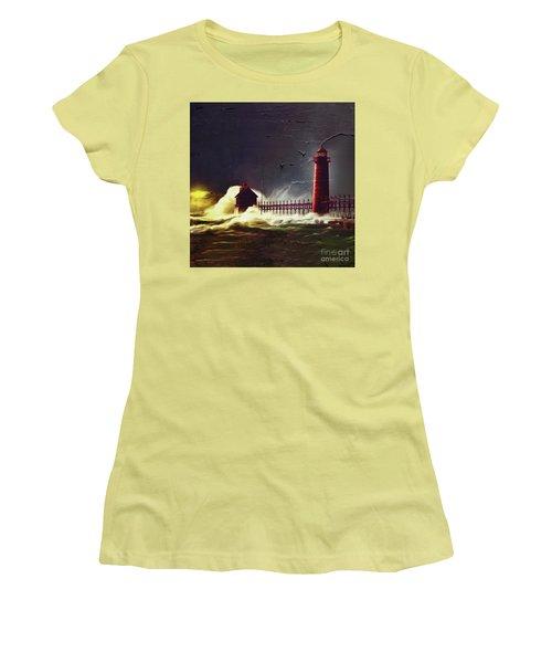 Light House 07 Women's T-Shirt (Junior Cut) by Gull G