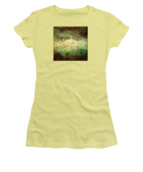 Women's T-Shirt (Junior Cut) featuring the photograph Light In The Forest by Robin Regan