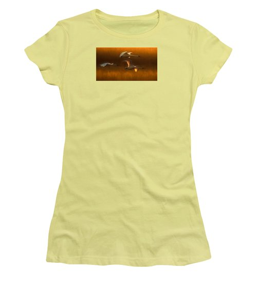 Women's T-Shirt (Junior Cut) featuring the painting Light by Kelly Marquardt