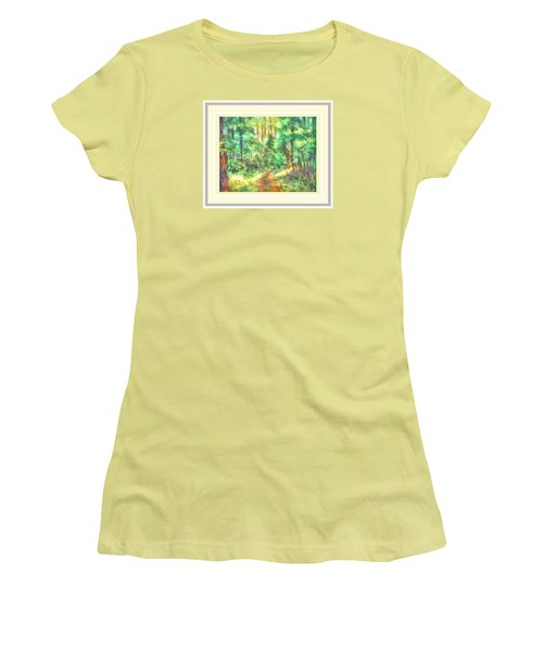 Women's T-Shirt (Junior Cut) featuring the photograph Light On The Path by Shirley Moravec