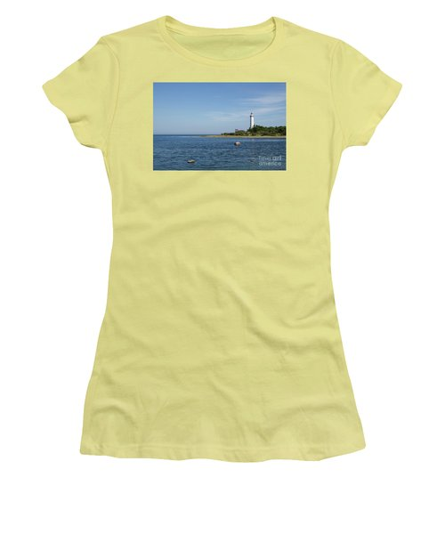 Women's T-Shirt (Athletic Fit) featuring the photograph Lighthouse In The Baltic Sea by Kennerth and Birgitta Kullman