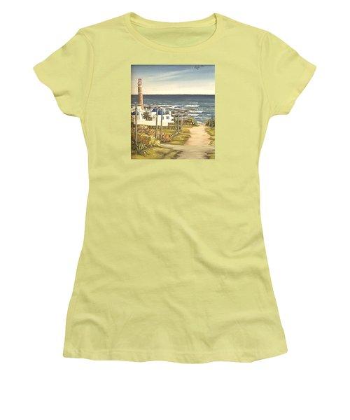 Lighthouse Uruguay  Women's T-Shirt (Junior Cut) by Natalia Tejera