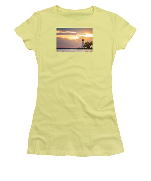 Women's T-Shirt (Junior Cut) featuring the photograph Lighting The Way by Andy Crawford