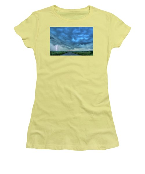 Lightning Strike Women's T-Shirt (Athletic Fit)