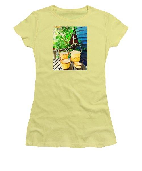 Lightship Baskets And Old Sailboat Windvane Women's T-Shirt (Junior Cut)
