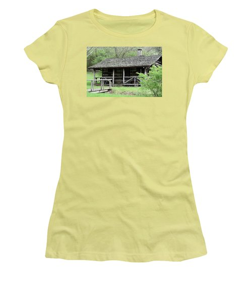 Lil Cabin Home On The Hill  Women's T-Shirt (Athletic Fit)