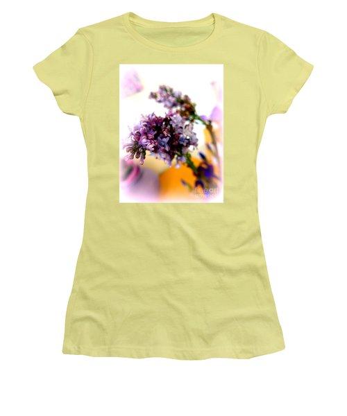 Lilac Beauty Women's T-Shirt (Junior Cut) by Marlene Rose Besso