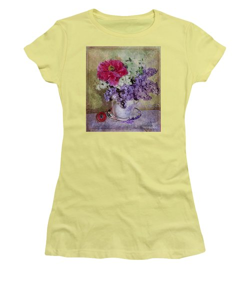 Lilac Bouquet Women's T-Shirt (Junior Cut) by Alexis Rotella