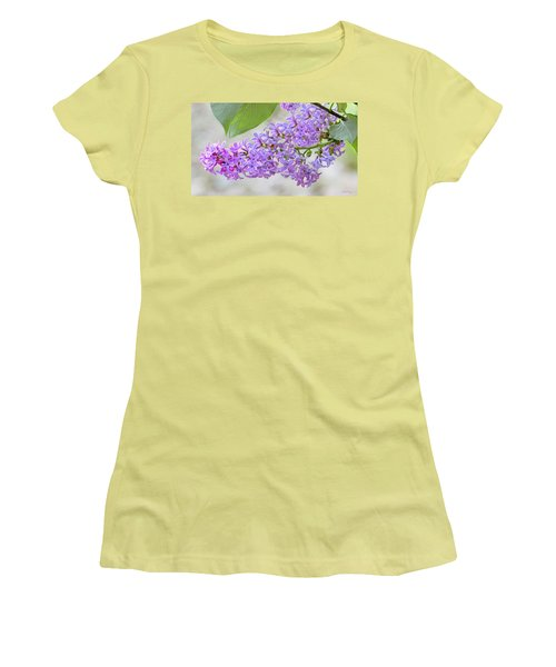 Lilac Cluster Women's T-Shirt (Junior Cut) by Skip Tribby